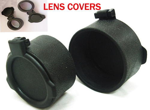 Rifle Scope Sight Anti Dust Lens Covers Cap Rubber