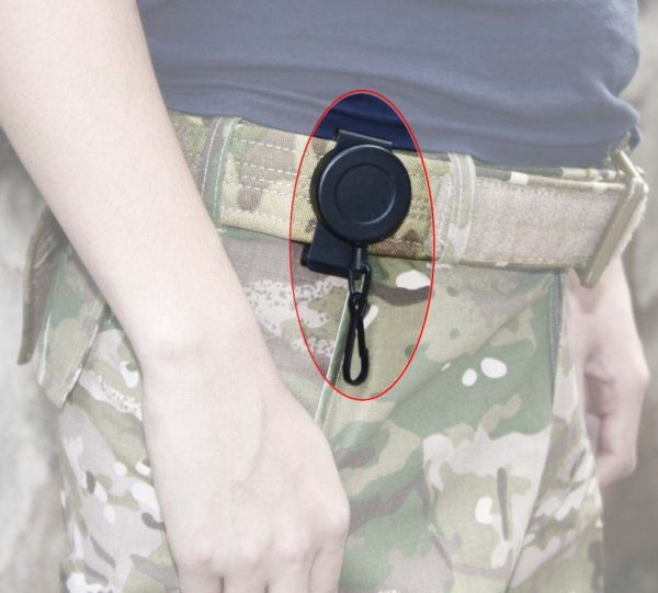 Rotating-360-degree-1M-retractable-flexible-steel-wire-rope-pistol-sling-special-tactics-fighting-survival-rope