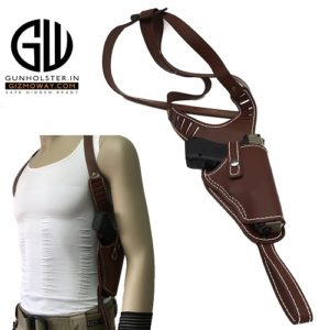 New-Airsoft-Vertical-Genuine-Leather-Shoulder-Holster-Right-Hand-Gun-Holster-Fits-Frame-Auto-Handguns-Cowhide