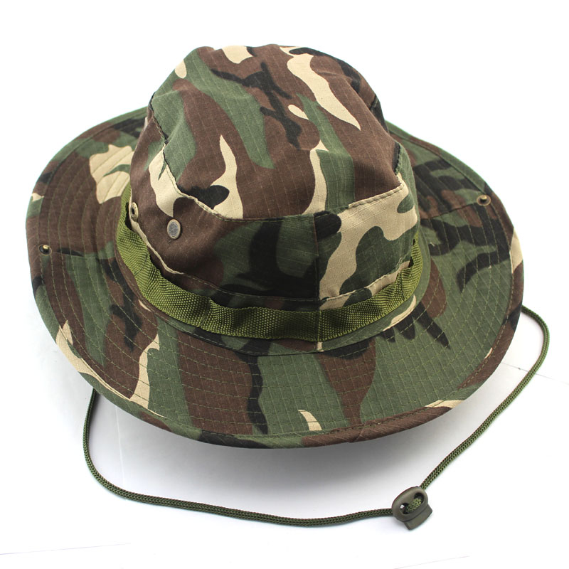 Tactical Sniper Camouflage Bucket Boonie Hats Nepalese Cap Military ... 282ff9db3192
