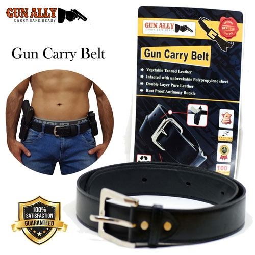 Tactical Heavy Duty Leather Gun Carry Belt